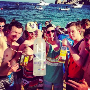 Johnny Football (far left) partying with some bros in Cabo San Lucas.
