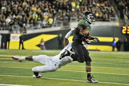 Kenjon Barner alone was responsible for five of Oregon's touchdowns against New Mexico in 2010.
