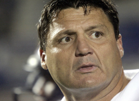 Trojans coach Ed Orgeron when told where he would be Friday night.
