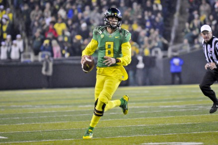 Mariota is the epitome of dual-threat QBs in all of College Football right now.