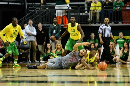 Ducks fighting in the second half