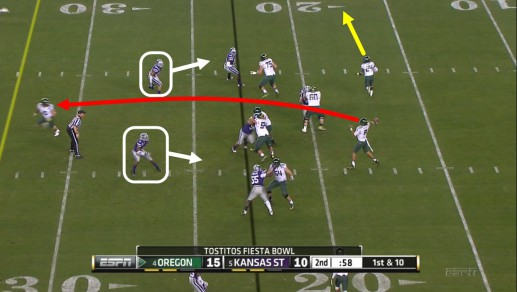 LBs must stop the run first, hence the coverage opening