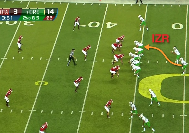 The base play for the Oregon Offense...