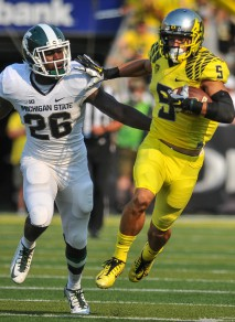 Breaking Devon: Allen creates separation from an MSU defensive back.