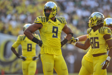 Arik Armstead (9) could be another first-round draft pick.