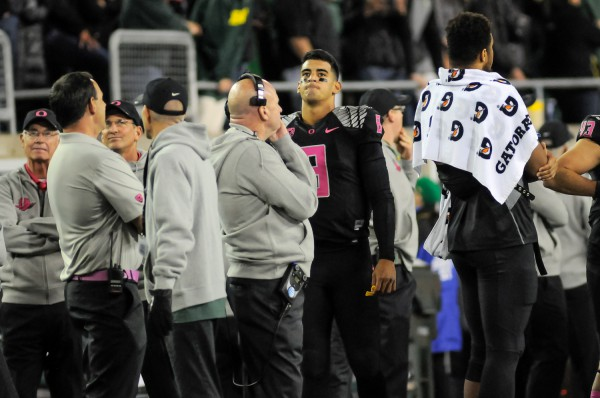 Marcus Mariota wasn't the only one disappointed by the outcome of the Arizona game.