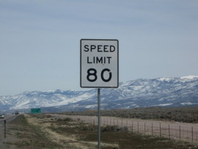 We're off to a good start. It is ubfair and flase for people to say the speed limit is so high because people can't get out of Utah fast enough.