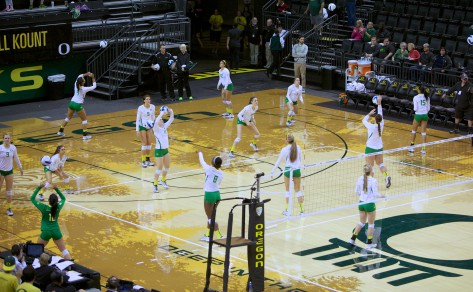 Oregon Ducks volleyball will host UCLA and USC for their final two conference games of the season on Friday and Sunday.