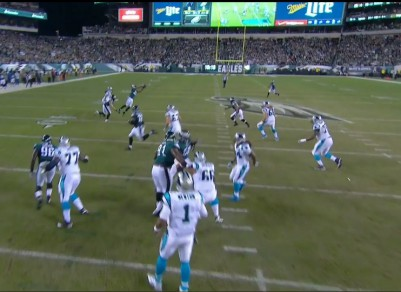 Cary Williams' INT on Panthers' 3rd play from scrimmage