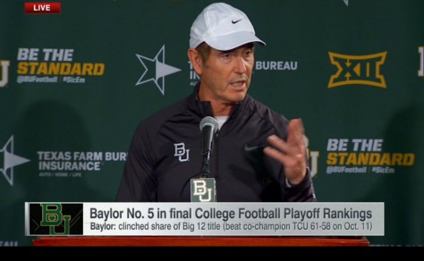 Baylor's Art Briles: on the outside looking in and pointing fingers.