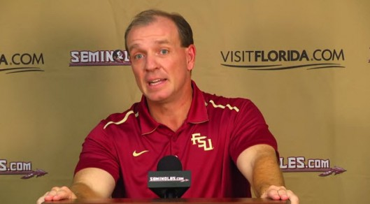 Jimbo Fisher explains that   it is impossible to have a victim unless a perpetrator is convicted.