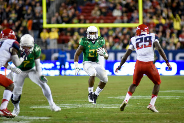 Royce Freeman in the Pac-12 Championship.