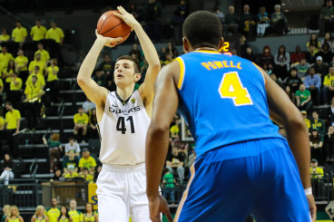 Roman Sorkin made his Oregon debut tonight and scored his first points as a Duck.