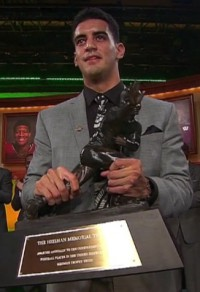 Mariota on Heisman night.