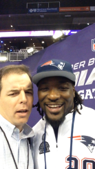 FishDuck.com Writer Mike Ostrom with LeGarrette Blount