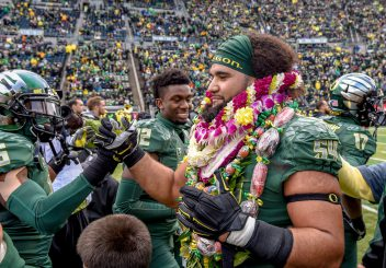 Hamani Stevens was the oldest Duck on the offensive line, arriving at the program in 2008.