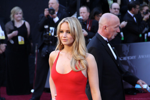 Jennifer Lawrence rocking the Red Carpet.