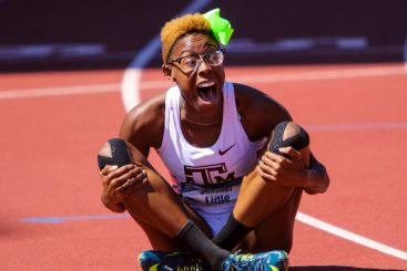 Shamier Little missed Henrys memo and forgot the whine after posting one of the top times in the world in the 400 hurdles.