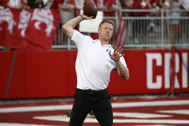 Scott Frost showing off the skills that earned him Big-12 newcomer of the year in 1996.