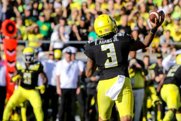 Vernon Adams Jr was very impressive in his debut for the Ducks