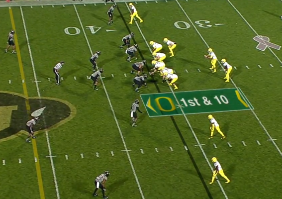 A pre-snap alignment we've seen before...Power Play?
