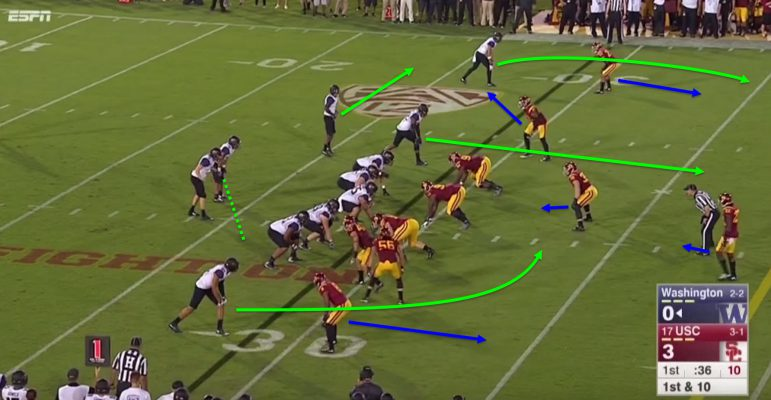 Browning and Gaskin must carry out the play action perfectly.