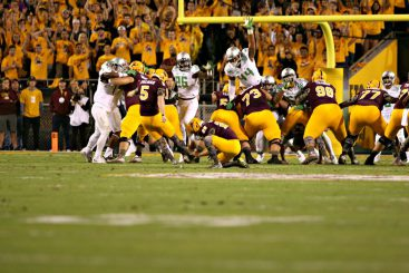 ASU place kicker Zane Gonzalez missed his first two field goal attempts.