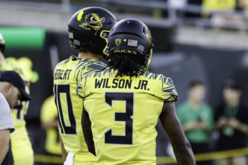 The Ducks have high hopes Herbert (10) or Wilson (3) can be the long-term solution at QB
