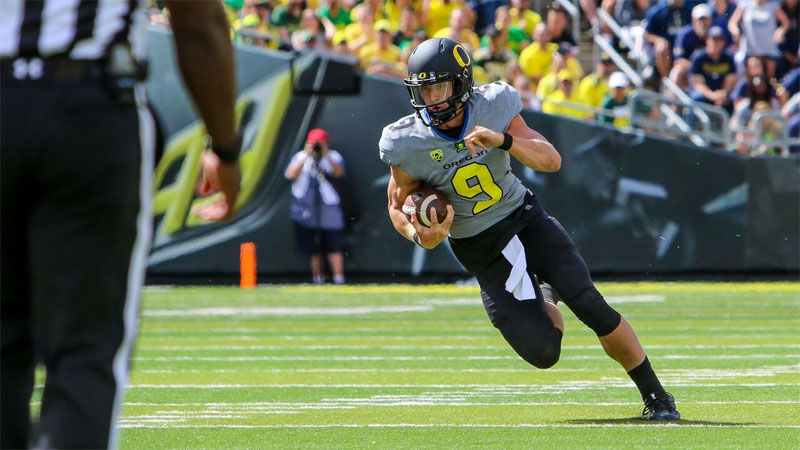 Fans who stayed home missed the debut of Oregon QB Dakota Prukop