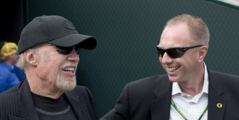 Phil Knight and Rob Mullens in a better time