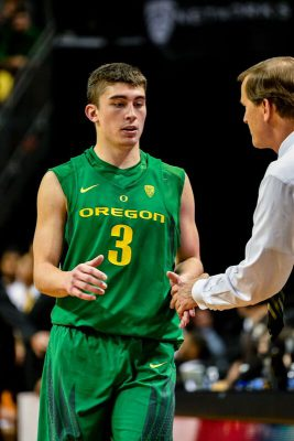 Pritchard is averaging 7.9 points per game for the Ducks in his freshman season.